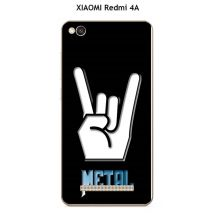 Coque XIAOMI Redmi 4A design Métal Rock fond noir