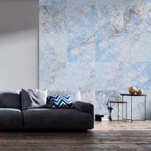 Papier peint - Blue Marble .Taille : 50x1000 - Décoration des murs