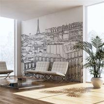 Papier peint - Croquis parisien - Artgeist - 450x270 - Décoration des murs