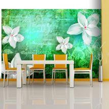 Papier peint - Floral notes III - Décoration, image, art   Fonds et Dessins   Motifs floraux   - Décoration des murs