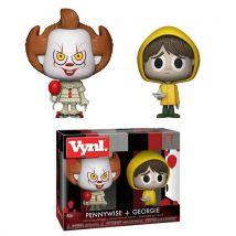 Funko - Figurine Horror - 2-Pack Pennywise & Georgie Vynl 10cm - 0889698292573 - Buste