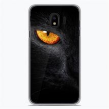 Coque silicone gel Samsung Galaxy J4 Plus 2018 motif Oeil de Panterre - Etui pour téléphone mobile