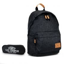 Pack School Start - Sac à dos Noir + Trousse 2 compartiments - Lee Cooper - Sacs à dos