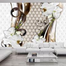 Papier peint - Gold trail - Décoration, image, art | Fleurs | Orchidées | - Décoration des murs