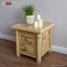 Homestyle4u Table d'appoint en bambou naturel, Multicolore, Unique - Accessoires canapé