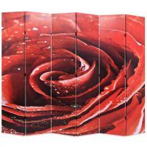 vidaXL Cloison de séparation pliable 228 x 180 cm Rose rouge
