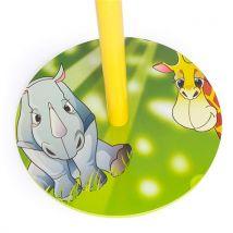 Homestyle4u pour enfant Clothe Manteau Chapeau support avec motif Jungle, bois, jaune, 30 x 30 x 30 cm - Décoration murale