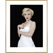 Poster Reproduction Encadré: Marilyn Monroe - Some Like It Hot (50x40 cm), Cadre Plastique, Or - Poster/affiche encadré