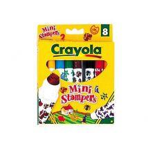 Boite 8 Feutres et sceau Crayola 13x14 - Crayon de couleur et feutres