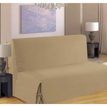 Homemaison HM69516-50 Clic Clac Housse de Canapé à Nouette Polyester Sable 37 x 26 cm - Textile séjour