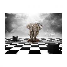 Artgeist - Papier peint - Echec et mat : éléphant le roi 350x270 - Décoration des murs