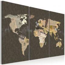 Tableau - Nouvelles du monde - triptyque .Taille : 60x40 - Décoration murale
