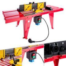 Arebos Table de Fraisage Défonceuse de Précision Défonceuse fraiseuse universelle - Machines de construction et d'atelier