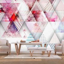 Papier peint - Triangular World - Décoration, image, art   Fonds et Dessins   Géométrique   - Décoration des murs