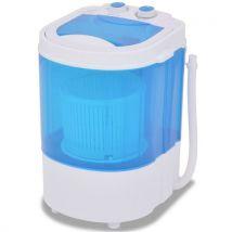 vidaXL Mini machine à laver avec essoreuse Camping Machine à laver 2,6/5,6 kg, 33 x 32,5 x 49 cm