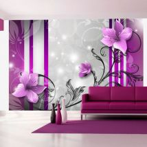 Papier peint | Violet buds | 400x280 | Fleurs | Autres fleurs - Décoration des murs