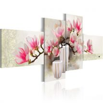 Tableau peint à la main - Parfum de magnolias - Décoration, image, art | Fleurs | Magnolias | 100x45 cm | - Décoration des murs