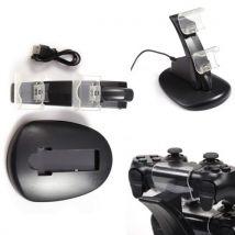 Coocheer chargeur de charge USB double pour station d'accueil pour controleur PS4 black - Chargeurs, batteries et socles