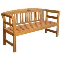 vidaXL Banc de jardin 157 cm Bois d'acacia solide - Mobilier de Jardin