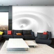 Papier peint - White Swirl .Taille : 350x245 - Décoration des murs