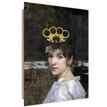 Feeby Image moderne Panneau décoratif Tableau art, Femme dangereuse 70x100 cm - Décoration murale