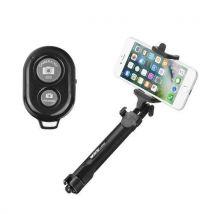 Perche Selfie Trepied Bluetooth Ozzzo Noir Pour Huawei P8 Lite