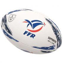 Ballon de rugby Gilbert Ffrance ballon t5 support Blanc taille : UNI réf : 38783 - Ballons