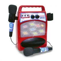 Bontempi amplificateur bluetooth avec 2 microphones 28 cm rouge - Accessoire Musique Electronique et DJ