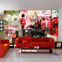 Papier peint - Streets of London - Décoration, image, art | Ville et Architecture | Londres | 450x280 cm | XXl - Grand Format | - Décoration des murs