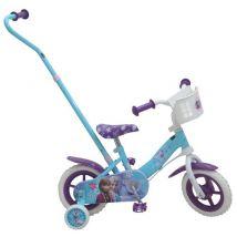Velo 10'' Reine Des Neiges Avec Canne Directionnelle - Vélos