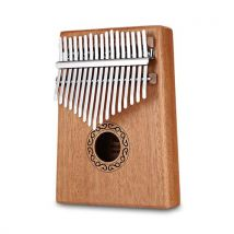 Percussions Kalimba 17 Clés en Bois Piano à Pouces Instruments du monde - Percussions