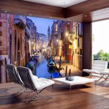 Papier peint - Evening in Venice .Taille : 100x70 - Décoration des murs