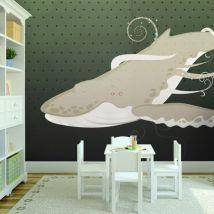 Papier peint | Créature sous marine | 200x154 | | - Décoration des murs