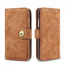 Etui Folio Durable Portefeuille Multifonctionnel Pour Samsung Galaxy Note 8 - Brun