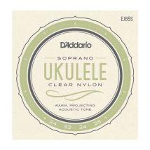 D'addario Pro Arté EJ65S - Jeu de cordes Ukulélé Soprano - Accessoire pour guitare