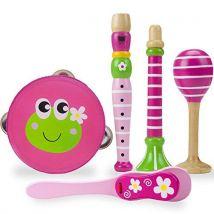 Princess Pollywogs Music Makers 5-piece Wooden Instrument Set by Imagination Generation - Instruments de musiques