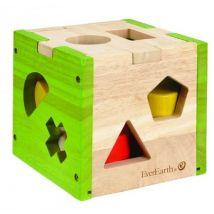 Everearth Bois de ragout moulé vert clair carré 15 cm - Autres jouets en bois