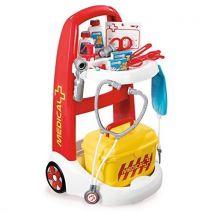 Chariot Médical Infirmière Smoby + Accessoires - Panoplie du docteur