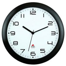 Alba HORNEW N Quartz Horloge Silencieuse Noir 30 x 5,5 x 30 cm - Décoration murale