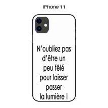 Coque Apple Iphone 11 Design Citation Fêlé Texte Noir Fond Blanc