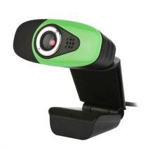 (#142) 12.0MP HD Webcam USB Plug Computer Web Camera with Sound Absorption Microphone,(Green) - Webcam