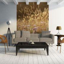 Papier peint - Awakening ceral field - Décoration, image, art | Fleurs | Prairie | - Décoration des murs