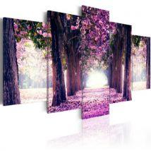Tableau - Avenue violette .Taille : 200x100 - Décoration murale