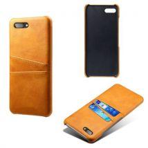 Coque En Cuir Avec Fente Carte Pour Blackberry Q5 Orange