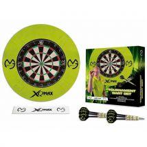 XQ Max Foret adultes mvg Bristle Dart Board Set, Green, 1 - Fléchettes