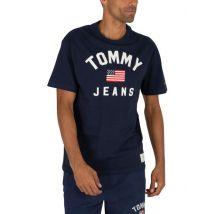 Tommy Jeans Pour des hommes T-shirt Drapeau USA, BleuXL - Hauts, T-shirts et débardeurs de sport