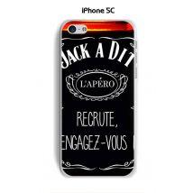 Coque Apple iphone 5C design Jack à Dit L'apéro - Etui pour téléphone mobile