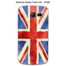 Coque Samsung Galaxy Trend Lite S7390 design Drapeau Grande Bretagne vintage effet Métallisé - Etui pour téléphone mobile