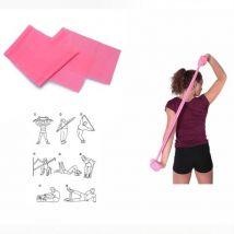 Bande élastique spéciale gym rose fluo 120 x 15 cm - Yoga et pilates