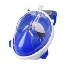 Ancheer Masque de plongée anti-fuites à plomb complet avec tube respiratoire taille S BLEU - Plongée